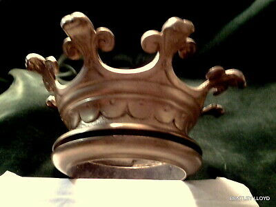 Antique French Gilt Bronze Crown Mount Adornment
