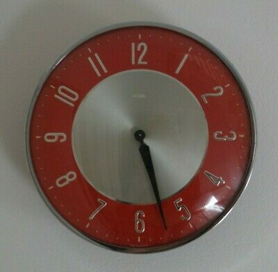 VINTAGE RETRO 1950's ? METAMEC kitchen wind-up WALL CLOCK