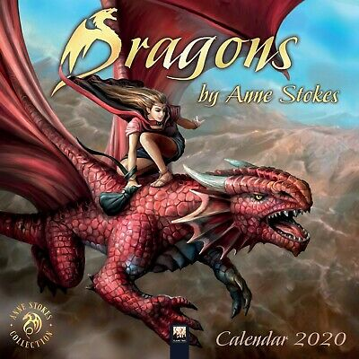 Dragons by Anne Stokes 2020 - 16 Month Square Wall Calendar