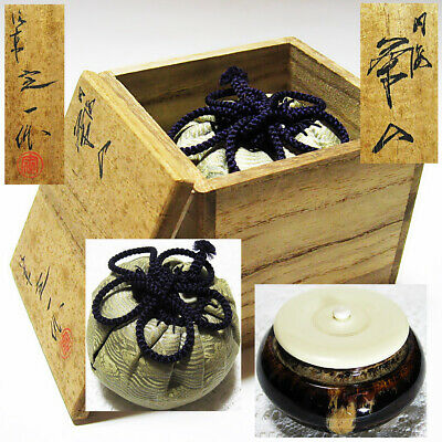 Japan Tea ceremony equipment UCHI-UMI Chaire koi-chaki Pottery tea caddy KT26