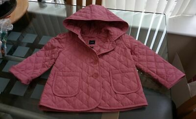 4 Years Girls baby gap GAP Pink Quilted Hooded Coat Brand New