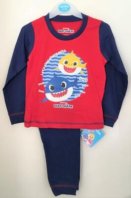 New Official Pinkfong Baby Shark Boys Pyjama Set Exstore Ages 18M-5Yrs