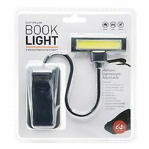 Clip-On LED Light Clip on Clamp Portable Travel Lamp Book