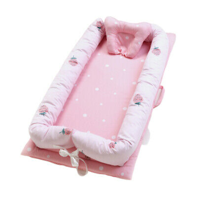 """Baby Bassinet Bed 35x20"""" Soft Breathable Portable Infant Lounger Crib Nest B"""