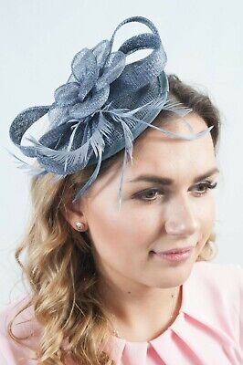 Grey Ladies Fascinator Headpiece Millinery Hatinators Sinamay Fascinators RRP£45