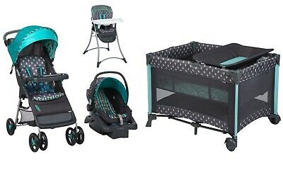 NEW Stroller Car Seat Infant Playard Crib Travel System with Bassinet High Chair