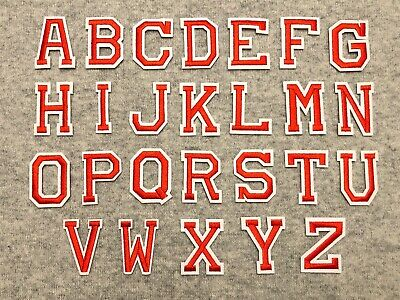Red Alphabet Letters Iron /Sew On Patch Badge For Clothes Hat ,A-Z Words