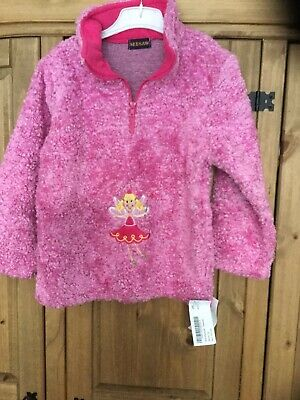 New With Tags Girl Jumper , Age 6/8 Years , Colour Pink , Theme Fairy, Seesaw .