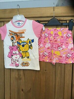 New Girls Pyjamas , Age 3 Years , Pink White , Theme Dizzy Donnie Super Wings