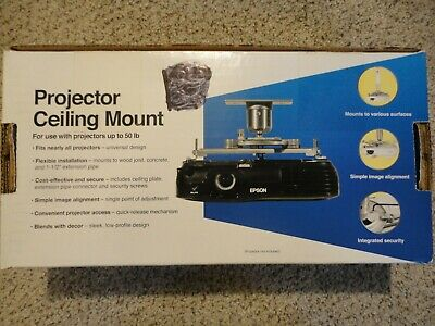 Universal Projector Ceiling Mount by Epson, up to 50 LBs ELPMBPJF - New