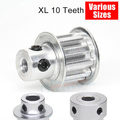 XL 10T Teeth Timing Belt Pulley 4-8mm Bore 11mm Wide Aluminum Synchronous 3D CNC
