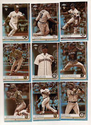 2019 Topps Chrome Sepia  Refractor 24-Card Lot Rookies & Stars   Ext-Mnt