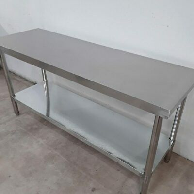 Commercial Stainless Steel Table Work Bench Shelf Diaminox 1800