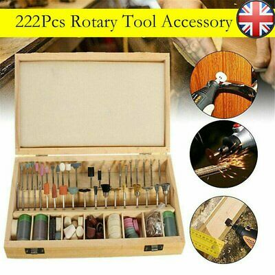 New 223pc Rotary Tool Accessory Bits For Grinding Hobby Drill Tool Set Cutting