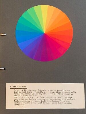 Bauhaus Pupil Studies On Color Theory 1920s Schlemmer Klee