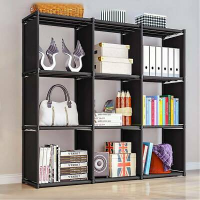 9 Black Cube Wooden Bookcase Shelving Unit Display Storage Shelf Home Office