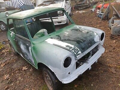 Classic mini unfinished project x barn find 1275 engine, lots of parts