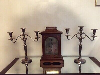 Antique Pair Of Old Sheffield Plate Georgian Candleabra