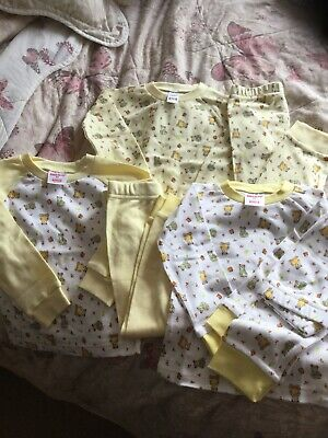 Bundle Girls Pyjamas Age 12-18 Mnths , 3 Pairs , Theme Teddy Bears , From Bonny