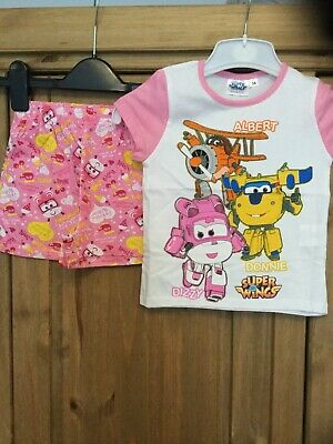 New Girls Pyjamas , Age 3 Years , Colour Pink & White, Dizzy Donnie Super Wings