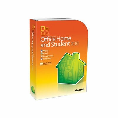 Microsoft Office Home and Student, 2010, Pre-Owned, 3x Family Pack