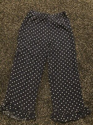 ZARA girls Navy Spotted Casual Trousers Size 9/10 Years