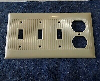 Vtg Mcdonald Sierra Line Outlet Cover 3 Switch Plates Combo Ivory Ribbed