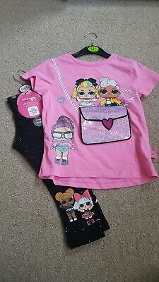 L.o.l Surprise Doll T shirt And Crop Leggings Age 4-5