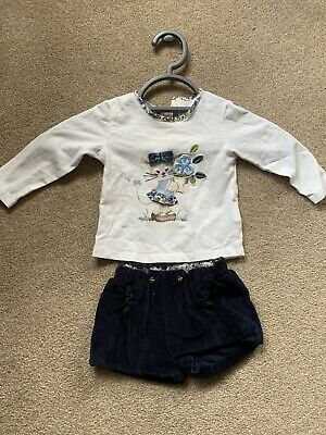Mayoral Lovely Girls Spanish Shorts And Long Sleeved Top Set Age 6 Months