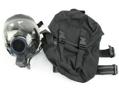 MSA Gas Mask Clear SWAT Riot Control with Carry Case Size M