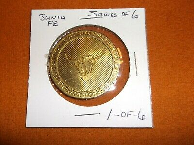Santa Fe 1 Of 6 $1 Gaming Token Las Vegas Nevada Nv Casino Chip Tokens Nev 1990
