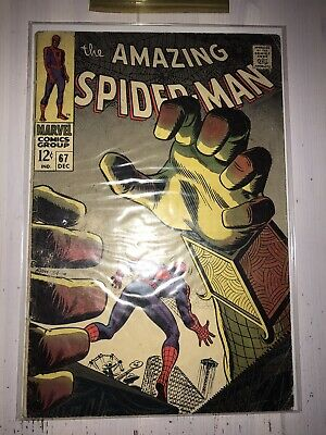 Marvel Comics AMAZING SPIDERMAN #67 MYSTERIO 12 Cent High Grade!!!