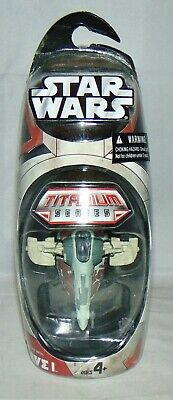 New Hasbro Star Wars Titanium Series Die Cast Boba Fett's Slave 1 Vehicle Sealed