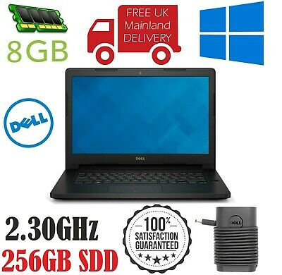 Dell Latitude 3470 Intel Core i5-6200UCPU @2.30GHz 8GB Ram 256GB SDD Win10 Pro