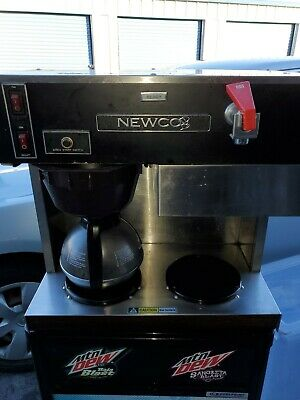 Newco Commercial Coffee Maker Model LPF 2 Burner With Coffee Pot