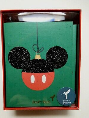 Papyrus Cards Mickey Mouse Christmas Cards Box of 20 cards and envelopes Disney