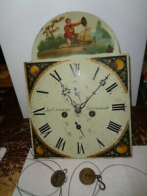 Antique-8 Day-Grandfather Clock Movement-Ca.1825-To Restore-#K117