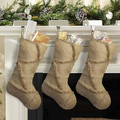 High Quality Ivenf Reverse Seam Christmas Stockings, 3 Pack Of 18 inches  Burlap
