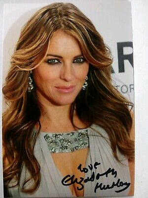 ELIZABETH HURLEY Authentic Hand Signed Autograph 4X6 Photo -SEXY MODEL & ACTRESS
