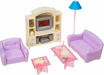 My Fancy Life 24012 Dollhouse Furniture Living Room with TV/DVD Set and Show