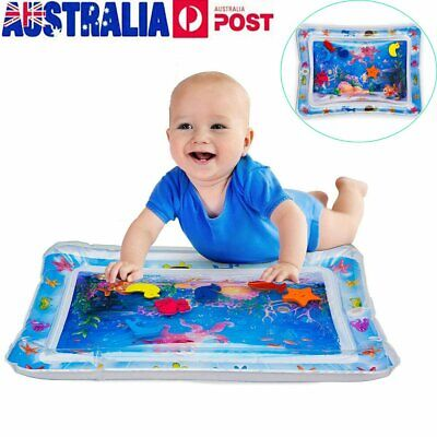 Inflatable Water Play Mat For Baby Infant Toddlers Mattress Best Fun Time QV