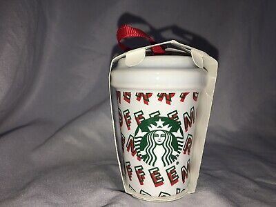 FREE SHIPPING new STARBUCKS Holiday 2019 Merry Coffee Christmas Ornament