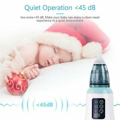 LCD Screen Baby Nasal Aspirator Electric Hygienic Nose Cleaner Oral Snot Sucker