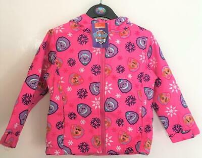 New Official Girls Paw Patrol Lightweight Jacket Inner Fleece - 2/3 & 4/5 Years