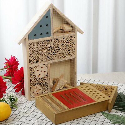 Wooden Insect House Insect Bug Hotel Outdoor Garden Bee Ladybird Nest Box