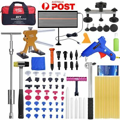 95pc PDR Dent Hail Paintless Removal Slide Hammer LED Line Board Repair Tools AU