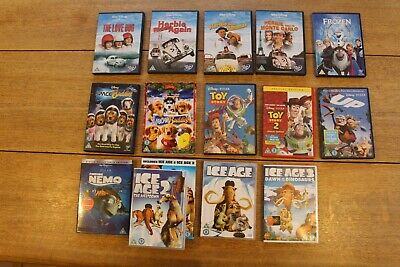 Dvd Collection Children's Disney And Ice Age Toy Story Herbie Frozen Up Nemo