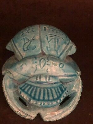 Rare Ancient Egyptian Glazed Stone Scarab Middle Kingdom (2000 BCE)