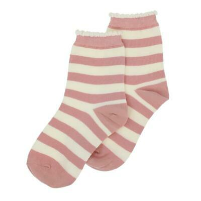 Millie Mae New for AW19 Womens Stripe Pastel Pink Socks