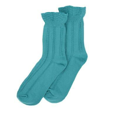 Millie Mae New for AW19 Womens Ruffle Top Turquoise Socks